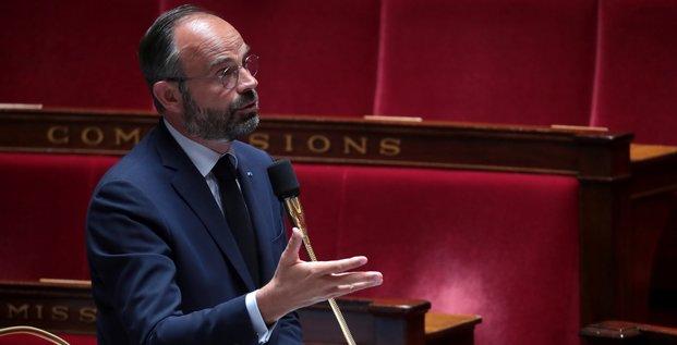 Édouard Philippe lors d'une session parlementaire, le 19 mai 2020
