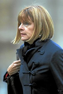 Areva chairman Anne Lauvergeon arrives for the funeral of former French politician and President of the Cour des Comptes Philippe Seguin at the Saint-Louis des Invalides church in Paris on January 11, 2010. Seguin, head of France's top public finance watchdog and a trenchant Gaullist critic of close