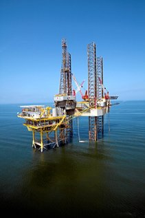 A handout photograph taken April 19, 2006 shows Woodside Petroleum Ltd.'s Ensco 83 jack up rig in the Gulf of Mexico, provided to the media on Thursday, May 1, 2008. Woodside Petroleum Ltd. (WPL AU), Australia's second-largest oil and gas producer, dropped 17 cents, or 0.3 percent, to A$55.73, the l