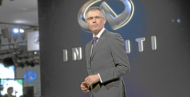Carlos Tavares, executive vice president of Infinity Americas at Nissan Motor Co. Ltd., speaks during the debut of the 2011 Infinity QX56 during a media preview of the New York International Auto Show (NYIAS) in New York, U.S., on Wednesday, March 31, 2010. The show is open to the public April 2 - 1