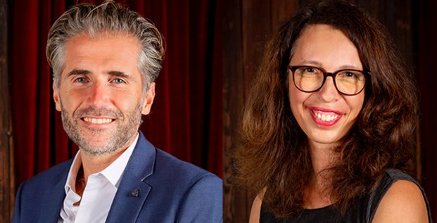 Stéphane Marcel et Stéphanie Berrahma, présdient et responsable de Créalia Occitanie