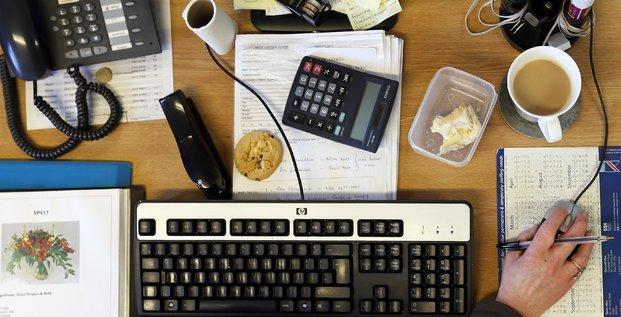 bureau, ordinateur, clavier