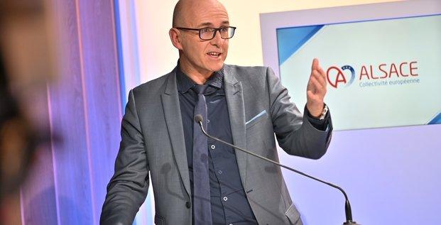 Frédéric Bierry, président de la Collectivité européenne d'Alsace