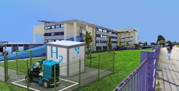 Des implantations de petits véhicules utilitaires avec leur station de production autonome dans cinq lycées