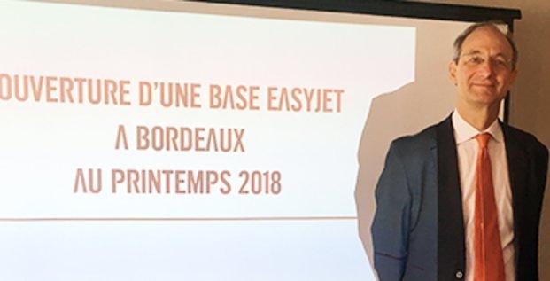 Pascal Personne, président du directoire de l'aéroport de Bordeaux Mérignac et François Bacchetta, directeur général France d'easyJet