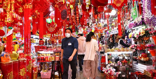 Chine: l'activite des services a progresse a un plus faible en 10 mois
