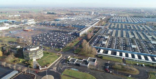 Vue aérienne du site qui accueillera la gigafactory.