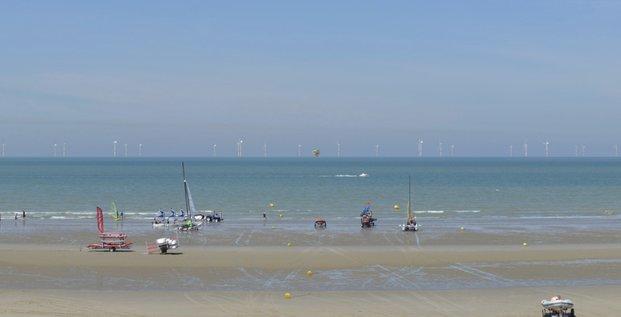Photomontage projetant la vue depuis la plage de Malo à Dunkerque.
