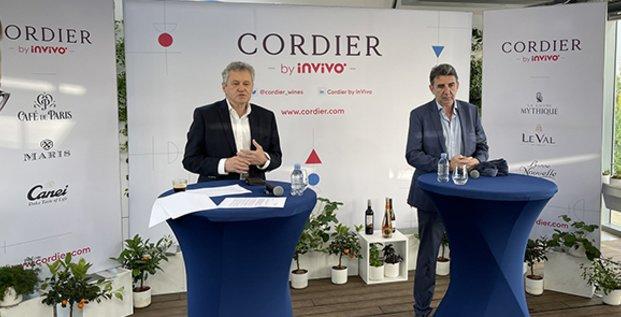 Thierry Blandinières, directeur général d'InVivo, et Philippe Leveau qui prend la direction de Cordier by InVivo.