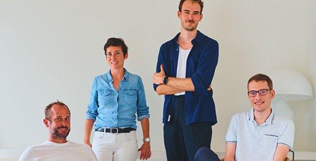 L'équipe fondatrice de Sweep, à Montpellier
