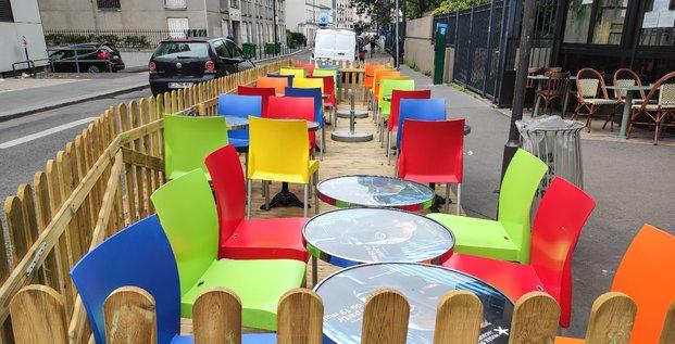 Terrasse, Paris, éphémère, bistrot, restaurant