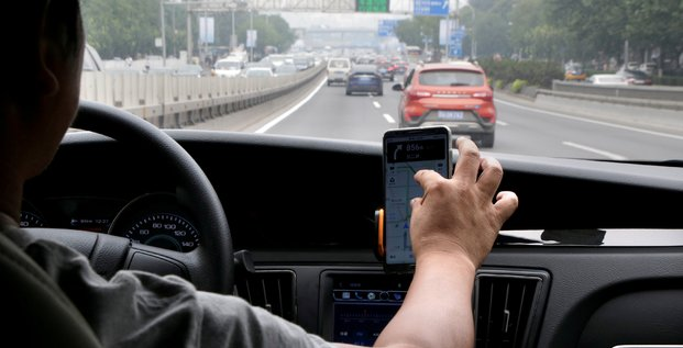 VTC, Didi Chuxing, taxi, driver, electric car, Pékin