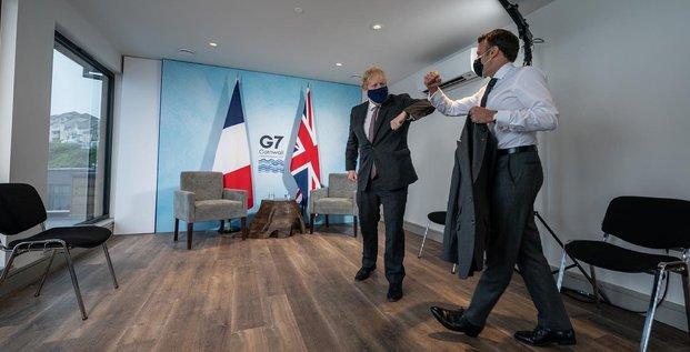 G7 macron boris Johnson