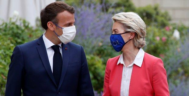 President Macron et von der Leyen