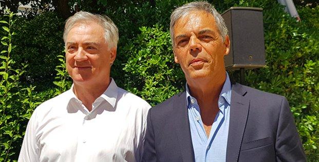 Michel Fréjaville et Michel Aimes, VP et DG de la nouvelle agence de développement économique de Béziers