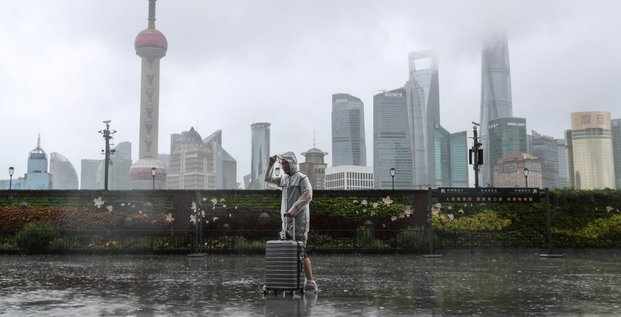 La chine se prepare a l'arrivee du typhon in-fa