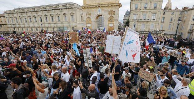 Manifestation, pass sanitaire, Montpellier