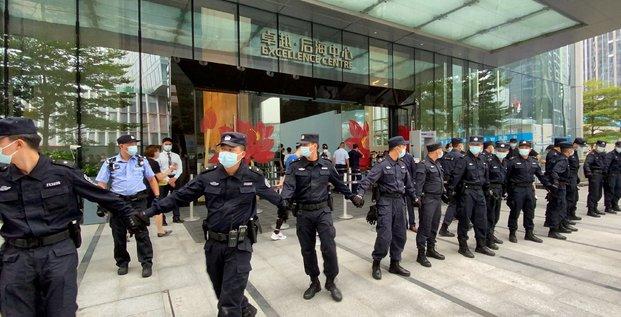 Chine: manifestation d'investisseurs au siege d'evergrande