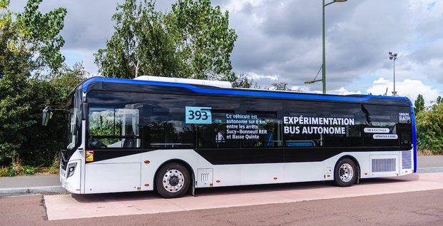 Le bus autonome RATP en test