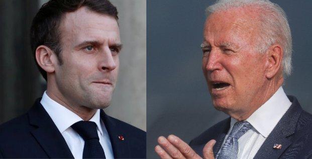 Macron Biden