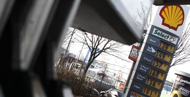 Une station Shell en Allemagne.