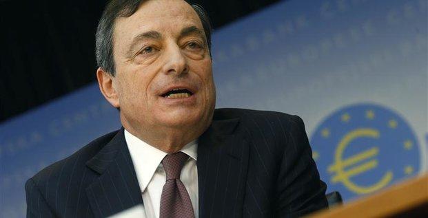 Mario Draghi ne voit pas de déflation en zone euro