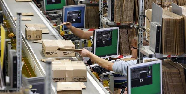 Une usine Amazon à Graben, près d'Augsburg, en Allemagne.