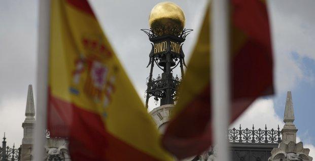 Le dôme de la Banque d'Espagne à Madrid, le 19 juin 2013.
