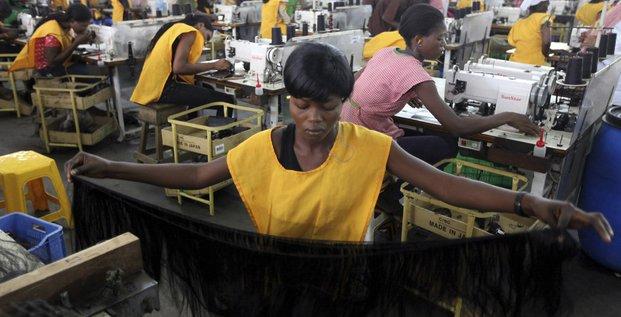 Une usine de vêtements au Nigéria.