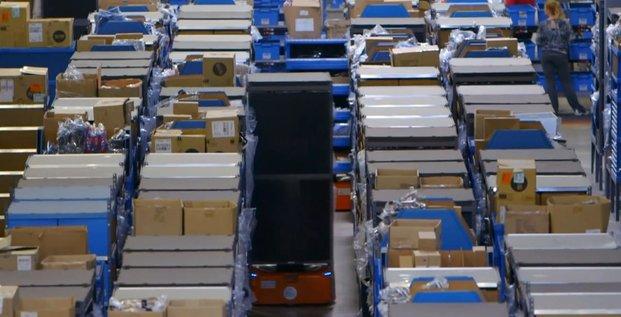 Robots Amazon fabriqués par Kiva Systems