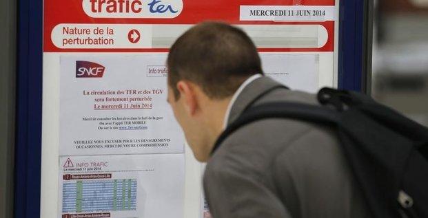 Le trafic ferroviaire fortement perturbé par la grève à la SNCF