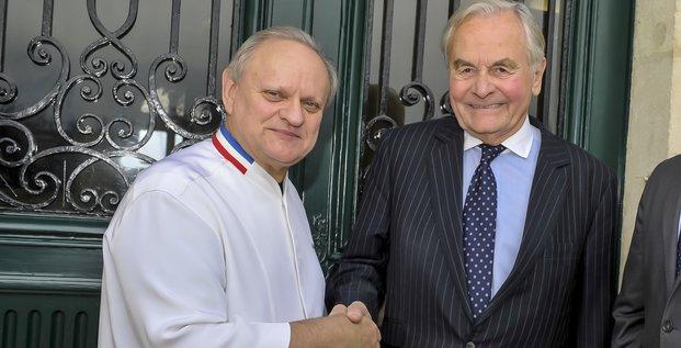 Joël Robuchon et Bernard Magrez