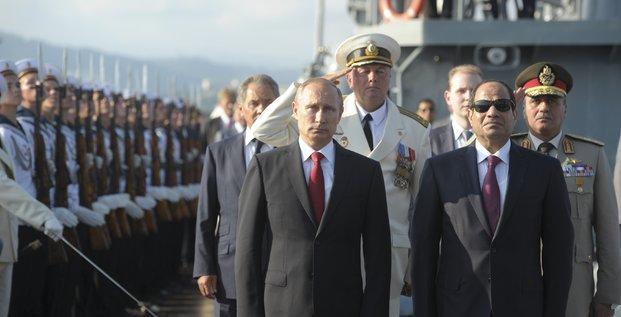 Al-Sissi avec Poutine à Sotchi
