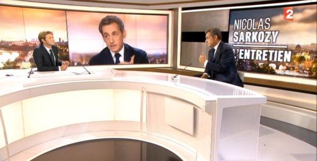 Interview de Nicolas Sarkozy au JT de 20H de France 2 le 21 septembre