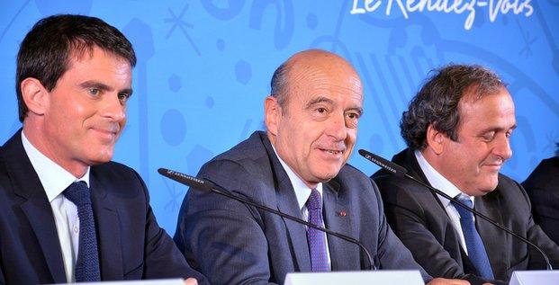 Euro 2016 : Valls, Juppé et Platini à Bordeaux