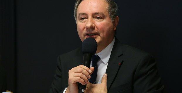 Jean-Luc Moudenc ce mardi 6 janvier, lors de ses vœux à la presse