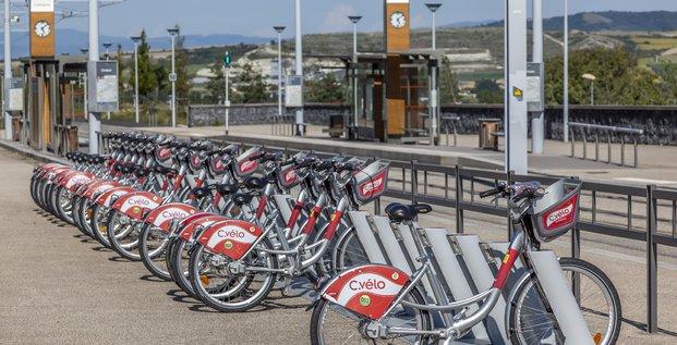 Parc de vélos en libre service Smoove Clermont-Ferrand