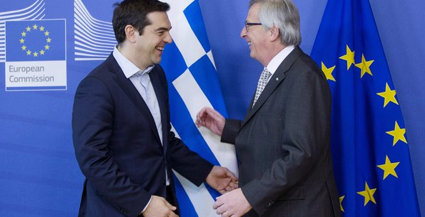 Jean-claude juncker prone un accord entre l'eurogroupe et athenes