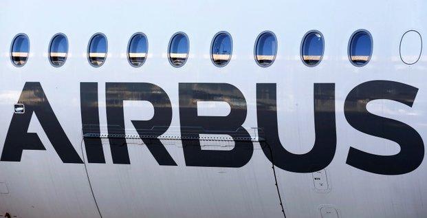 Airbus, plus forte baisse du cac 40 a mi-seance