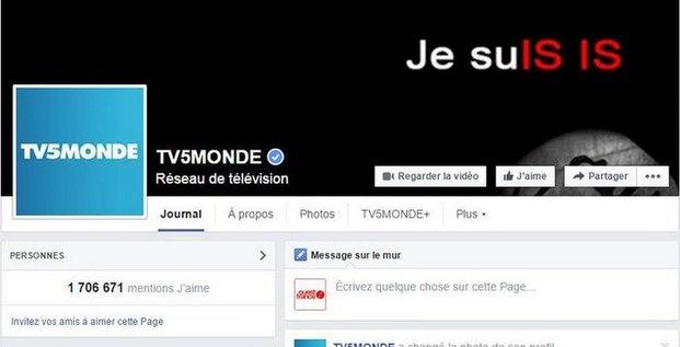 Piratage de la page Facebook de TV5 Monde avril 2015