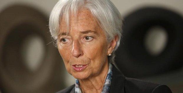 Christine lagarde voit une croissance mondiale plus faible que prevu