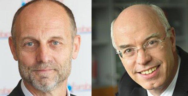 Xavier Tabary et Liberto Yubero, présidents de Eurobiomed et de Cancer Bio Santé.