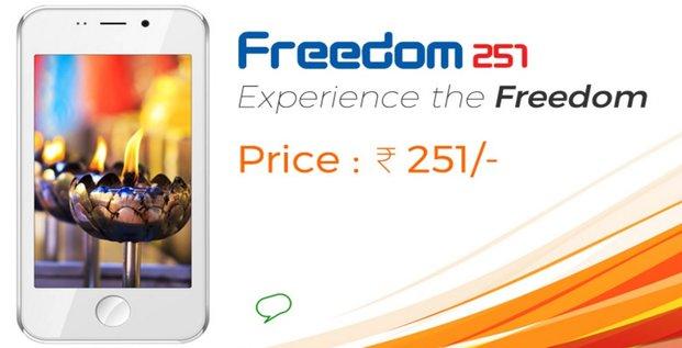 Smartphone Freedom 251 par la startup indienne Ringing Bells