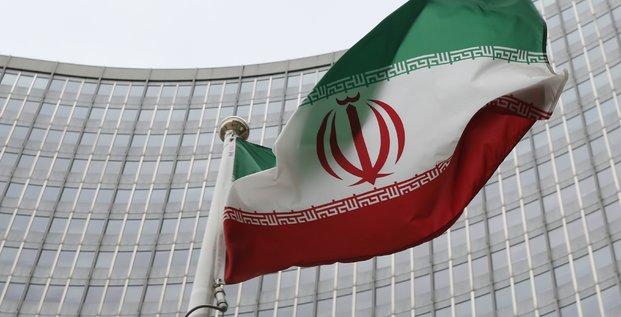 Le drapeau de l'Iran flotte au-dessus des QG de l'AIEA à Viennes en janvier 2016