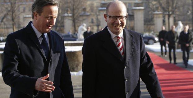 Premier ministre tchèque et Premier ministre britannique