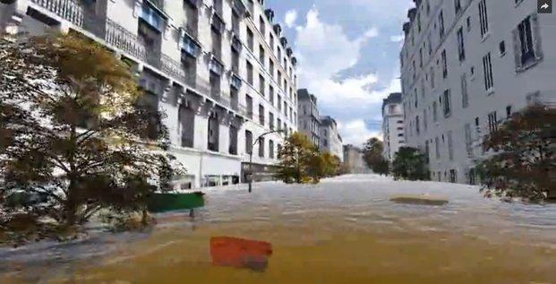 Simulation de la prochaine crue de la Seine