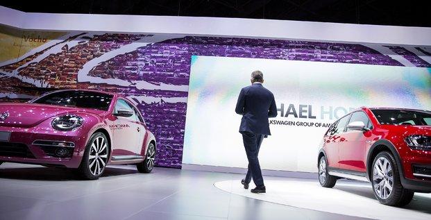 Le patron américain de Volkswagen Michael Horn en avril 2015
