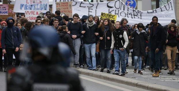 Les etudiants restent mobilises contre la loi el khomri