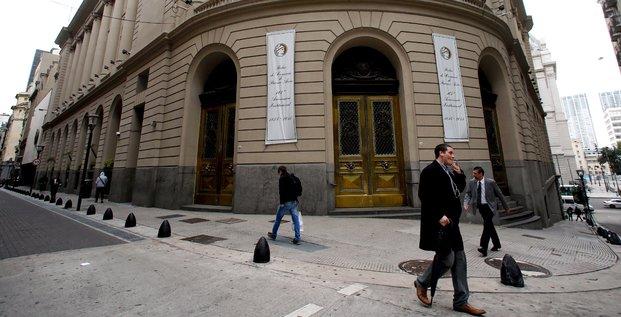 La Bourse de Buenos Aires en Argentine le 18 avril 2016