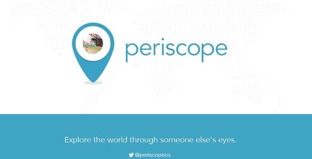 Periscope, startup qui développe une application permettant de streamer depuis son smartphone